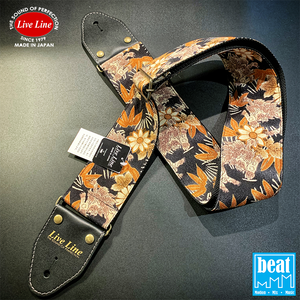 Live Line - 70mm Width Bass Straps - Japanese Pin and Lion [LSB3800MS]