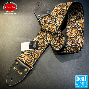 Live Line - 70mm Width Bass Straps - Paisley [LSB3800PSY]