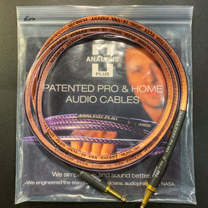 Analysis Plus - Pro Oval 12 Speaker Cable (Straight to Straight)