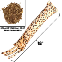 "Leopard Kick Stick With Tassels - 18"" Long - Refillable"