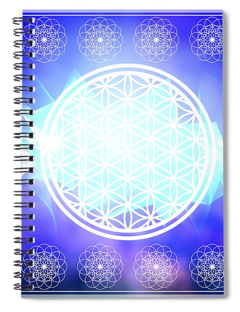 Flower Of Life - Spiral Notebook