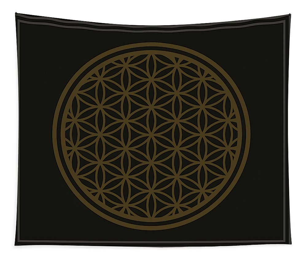 Flower Of Life Minimal - Wall Tapestry