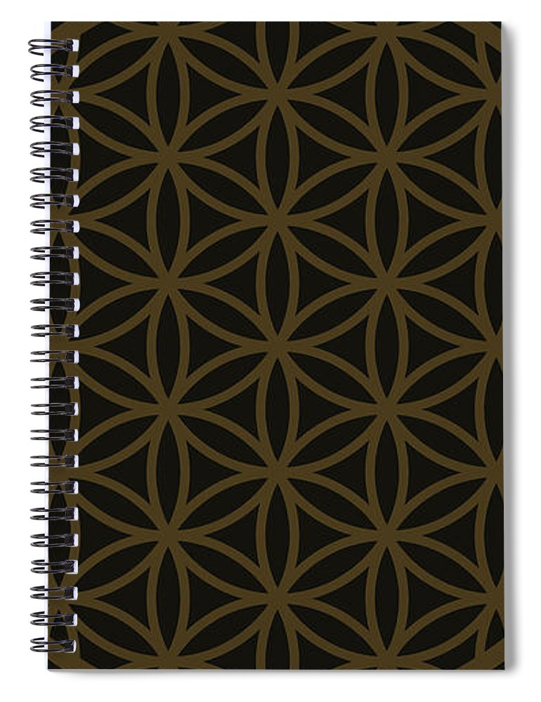 Flower Of Life Minimal - Spiral Notebook