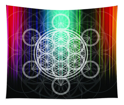 Metatron's Cube / Flower Of Life - Wall Tapestry