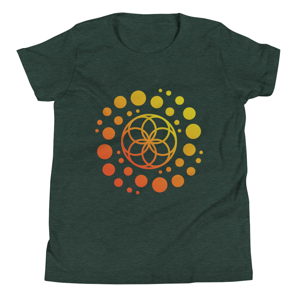 142215ba Seed of Life / Galaxy Youth Short Sleeve T-Shirt - PHIDLE Sacred ...