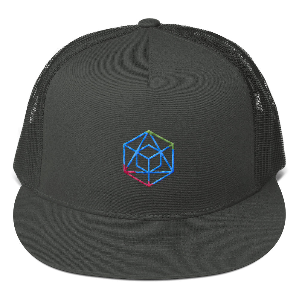 Geometric Form Mesh Back Snapback