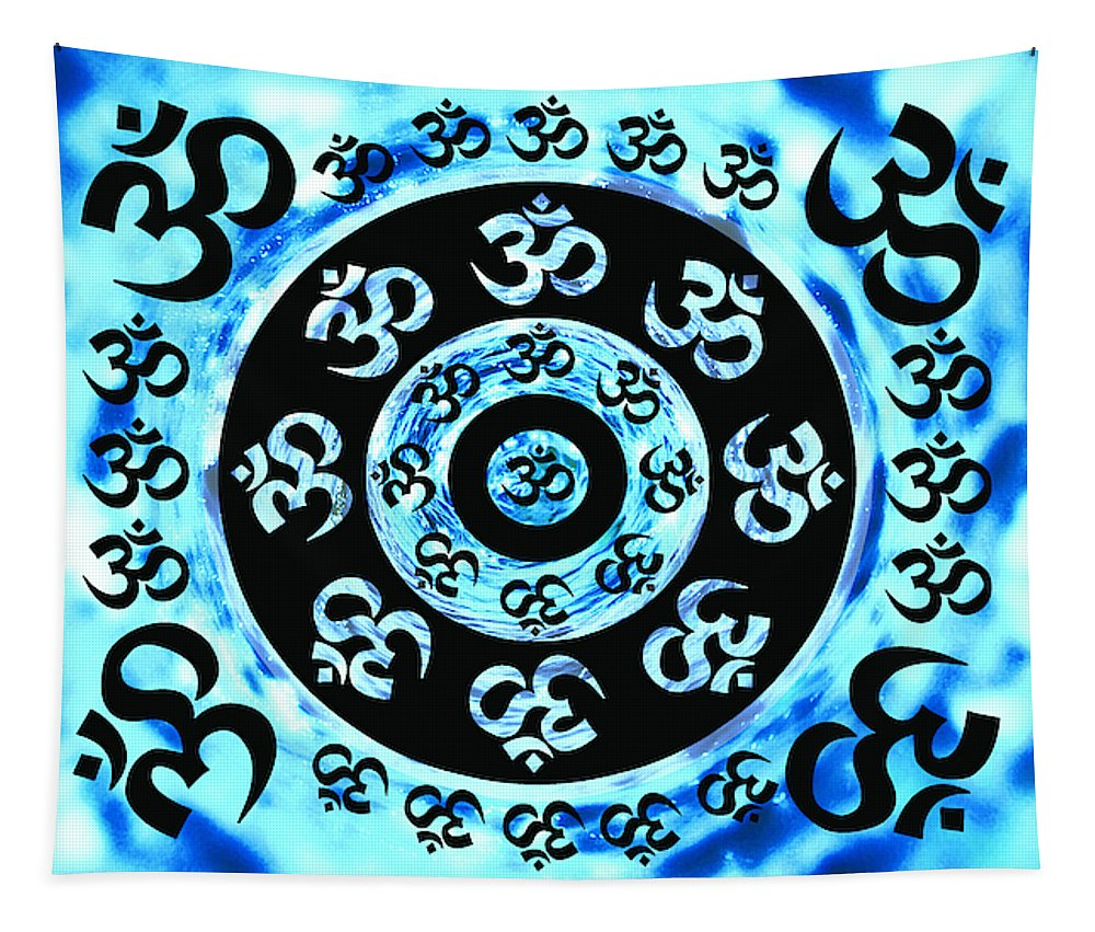Om In Water - Wall Tapestry