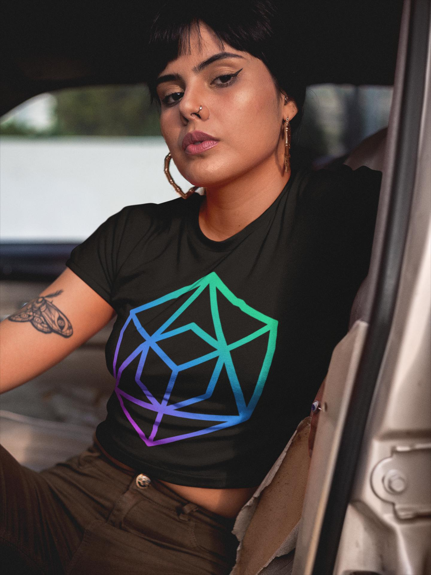 Geometric Form Women's Crop Tee