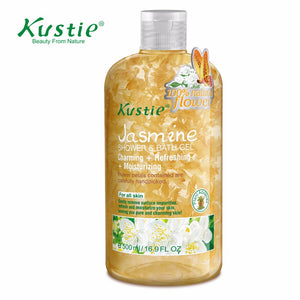 Kustie Natural  & Visible Romantic Petals 500ml Moisturizing Body Lotion Softening & Hydrating Jasmine Shower Gel