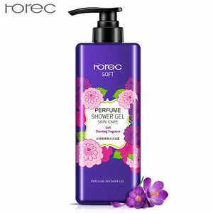 Silky Soft Perfume Shower Gel Fresh Charming Fragrance Deep Cleansing Moisturizing Mild Nourishing Body Care Shower Cream 550ml