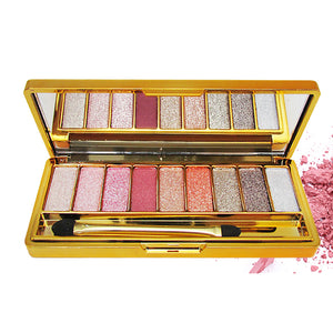 Brand New 9 Colors Diamond Bright Colorful Makeup Super Flash Glitter & Shimmer Eyeshadow Palette Cosmetics Set with Brush