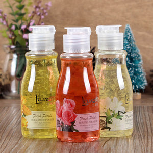 1pc Discountehe Hand- Picked Real Floral Petals Showr Gels 100ml Rose/ Lily/ Marigolds Cherry Blossom Shower Gel