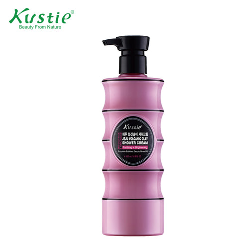 Kustie Purifying Brightening Jeju Volcanic Clay Shower Cream  & Shower Gel  500ml