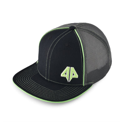 248e2f1d7daa9 Alpha Prime Snapback Hat - 301SB-Black Lime Green - Alpha Prime Sports