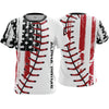 Alpha Prime Full Dye Jersey - Distressed Flag Baseball