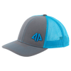 AP Retro Trucker Snapback Hat - Graphite/Neon Blue