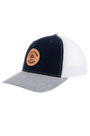 AP Circle Patch Snapback Hat - 112RCHCP-Navy/White/Grey