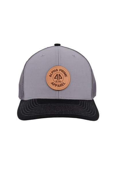 AP Circle Patch Snapback Hat - 112RCHCP-Charcoal/Black