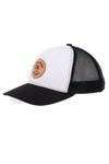 AP Circle Patch Snapback Hat - 112RCHCP-White/Black