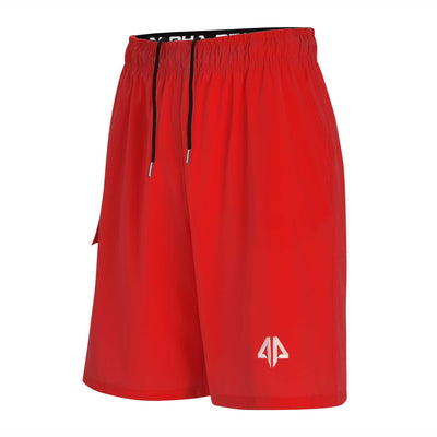 Alpha Prime Microfiber Shorts – Red
