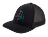 Alpha Prime Series 2 Fitted Hat - 101FPAC-Black/Pink/Cyan