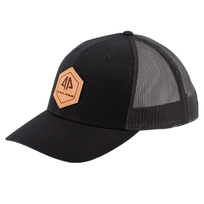 AP Patch Trucker Snapback Hat - 112RCHHX-Black/Black