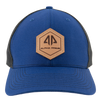 AP Patch Trucker Snapback Hat - 112RCHHX-Royal/Black