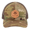 AP Patch Trucker Snapback Hat -  862RCHHX-Green Camo/Brown