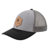 AP Patch Trucker Snapback Hat - 112RCHHX-Grey/Charcoal/Black