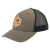 AP Patch Trucker Snapback Hat - 112RCHHX-Olive/Black