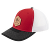 AP Patch Trucker Snapback Hat - 112RCHHX-Red/White/Black
