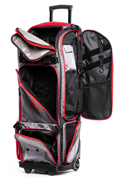Prime Series II Roller Bat Bag - Grey/Red