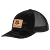 AP Patch Trucker Snapback Hat - 862RCHSQ-Black Camo/Black