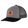 AP Patch Trucker Snapback Hat - 112RCHSQ-Grey/Charcoal/Black