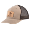 AP Patch Trucker Snapback Hat - 112RCHSQ-Khaki/Coffee