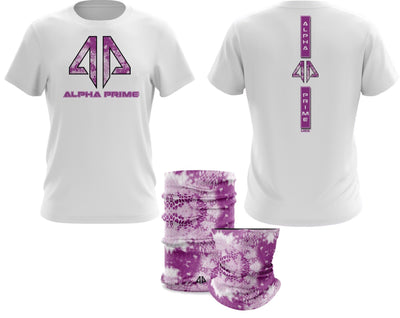 Alpha Prime - Tie Dyed Snake Spot Dye & Face Guard Combo-Short Sleeve