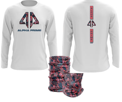 Alpha Prime - Tropical Pink Spot Dye & Face Guard Combo-Long Sleeve