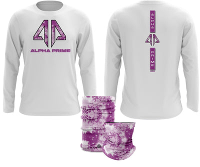 Alpha Prime - Tie Dyed Snake Spot Dye & Face Guard Combo-Long Sleeve