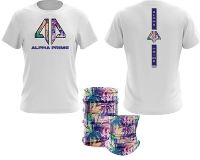 Alpha Prime - Miami Vibes Spot Dye & Face Guard Combo-Short Sleeve