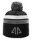 AP 2 Stripe Pom Beanie-Black/Grey/White