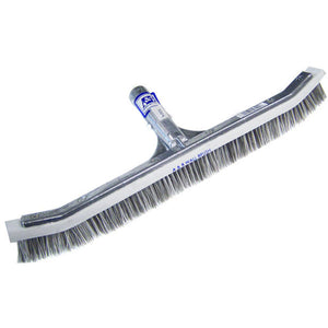 "Brush, 18"", Combo, Curved, Metal Back, A&B"