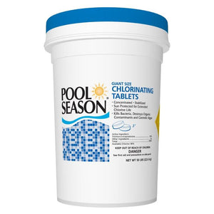 "Chlorine Tablets, 3"" Giant Size, Pool Season"