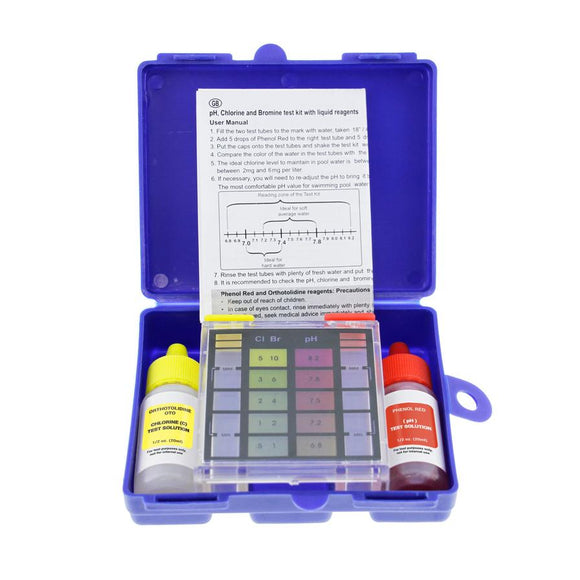 Test Kit, Standard 3-Way Swimming Pool & Spa