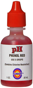pH Solution Phenol Red with Chlorine Neutralizer, 1-Ounce