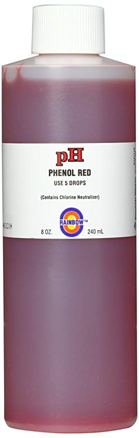 pH Solution Phenol Red with Chlorine Neutralizer, 8-Ounce
