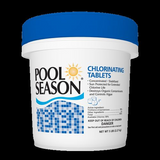 "Chlorine Tablets, 1"" Small Size, Pool Season"
