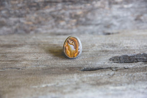 Standing Stone to Stone Ring -- Size 6