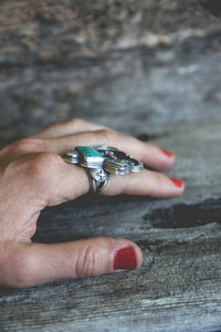 Sage Runner Ring -- Size 7.5