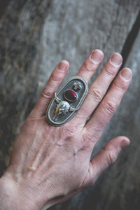 Bison Skull Ring -- Size 7