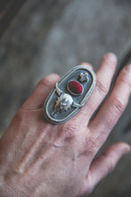 Load image into Gallery viewer, Bison Skull Ring -- Size 7